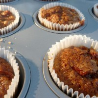 Apple-almond mini-muffins
